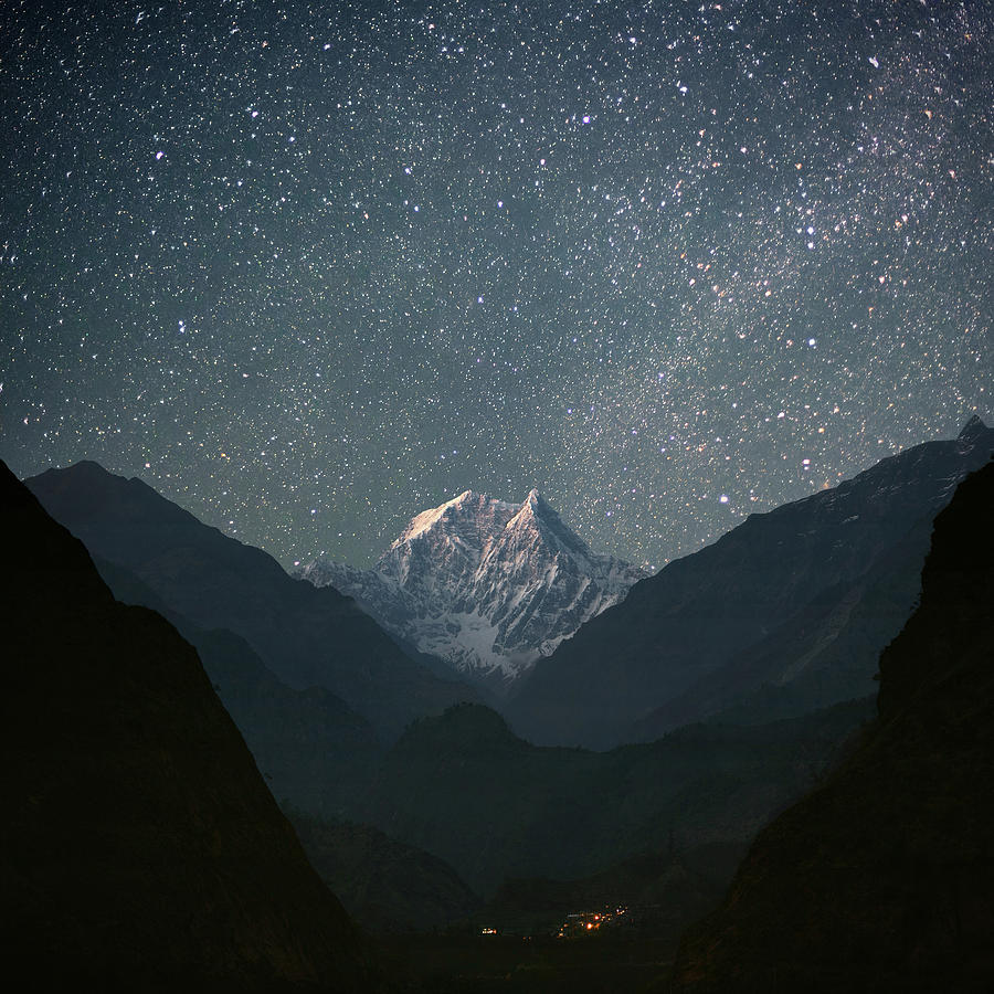 Nilgiri South (6839 M) Photograph by Anton Jankovoy