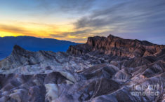Zabriskie Point Sunset Photograph by Charles Dobbs