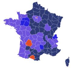 France : résultats du 1er tour de l'élection présidentielle 2017 • PopulationData.net