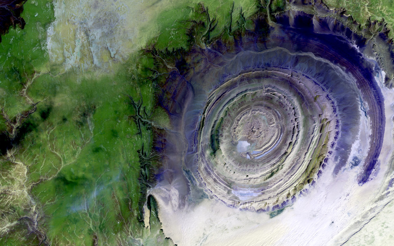 Richat Structure, Mauritania – Most Beautiful Picture of the Day: May 11, 2017 – Most Beautiful  ...