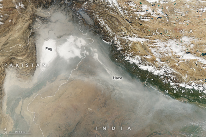 Fog and Haze Along the Himalaya : Natural Hazards – MapsRoom