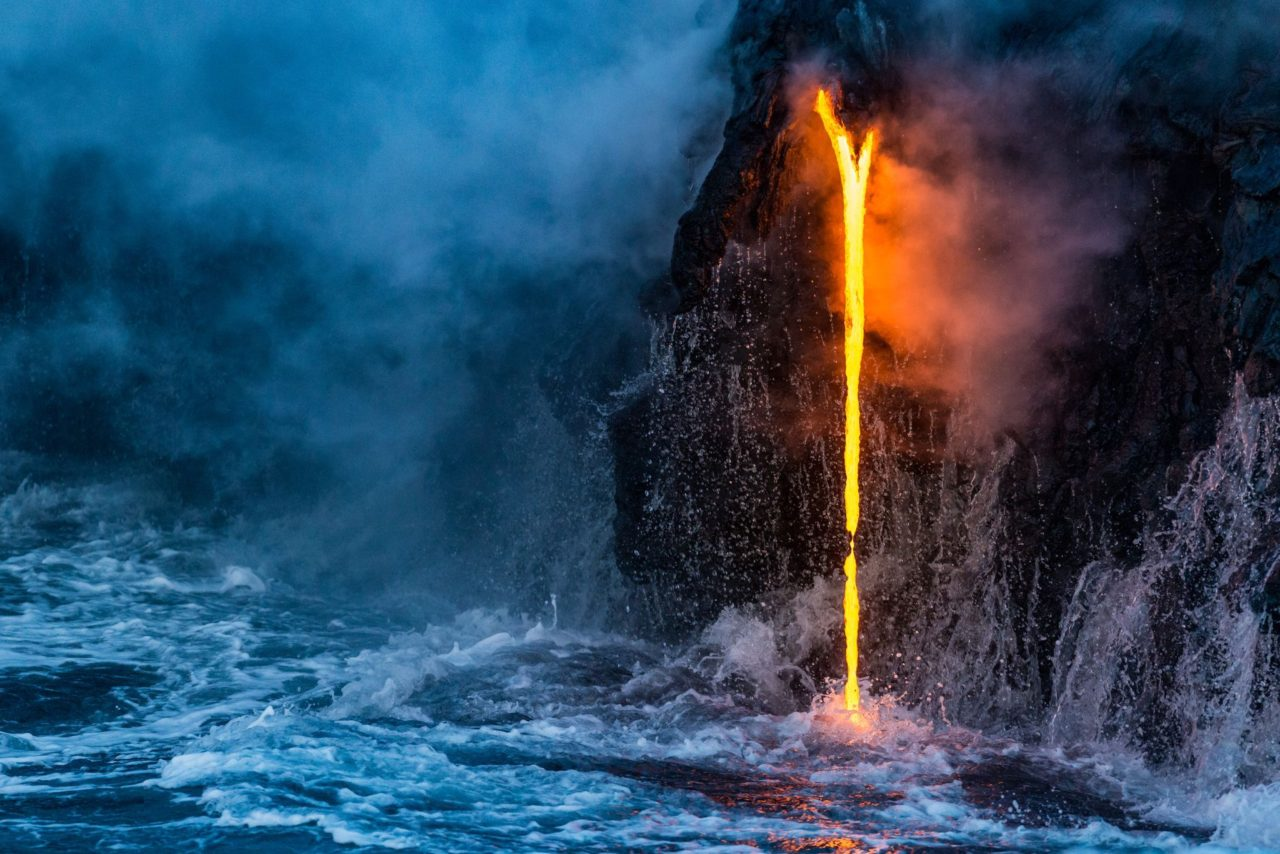 Lava jumps into the ocean – Most Beautiful Picture