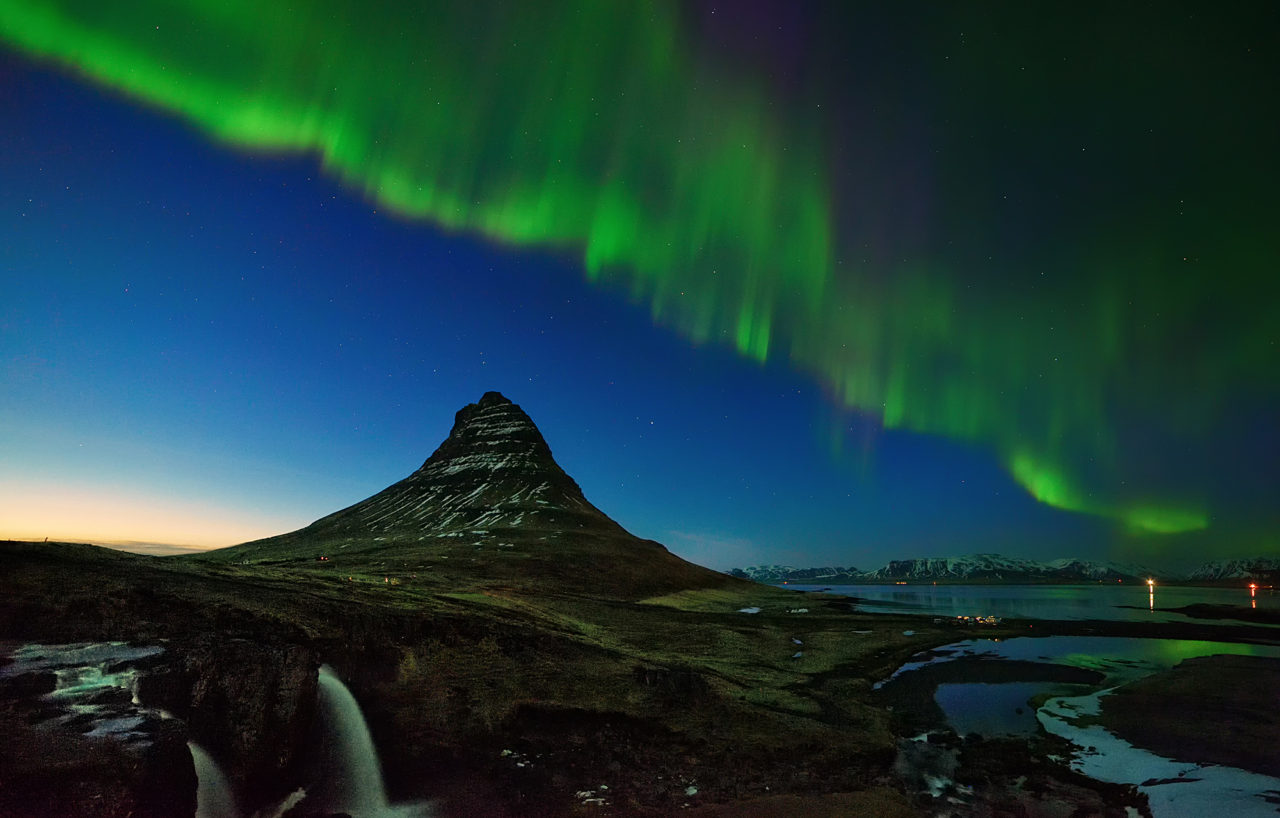 Aurora above Kirkjufell Mountain, Iceland – Most Beautiful Picture