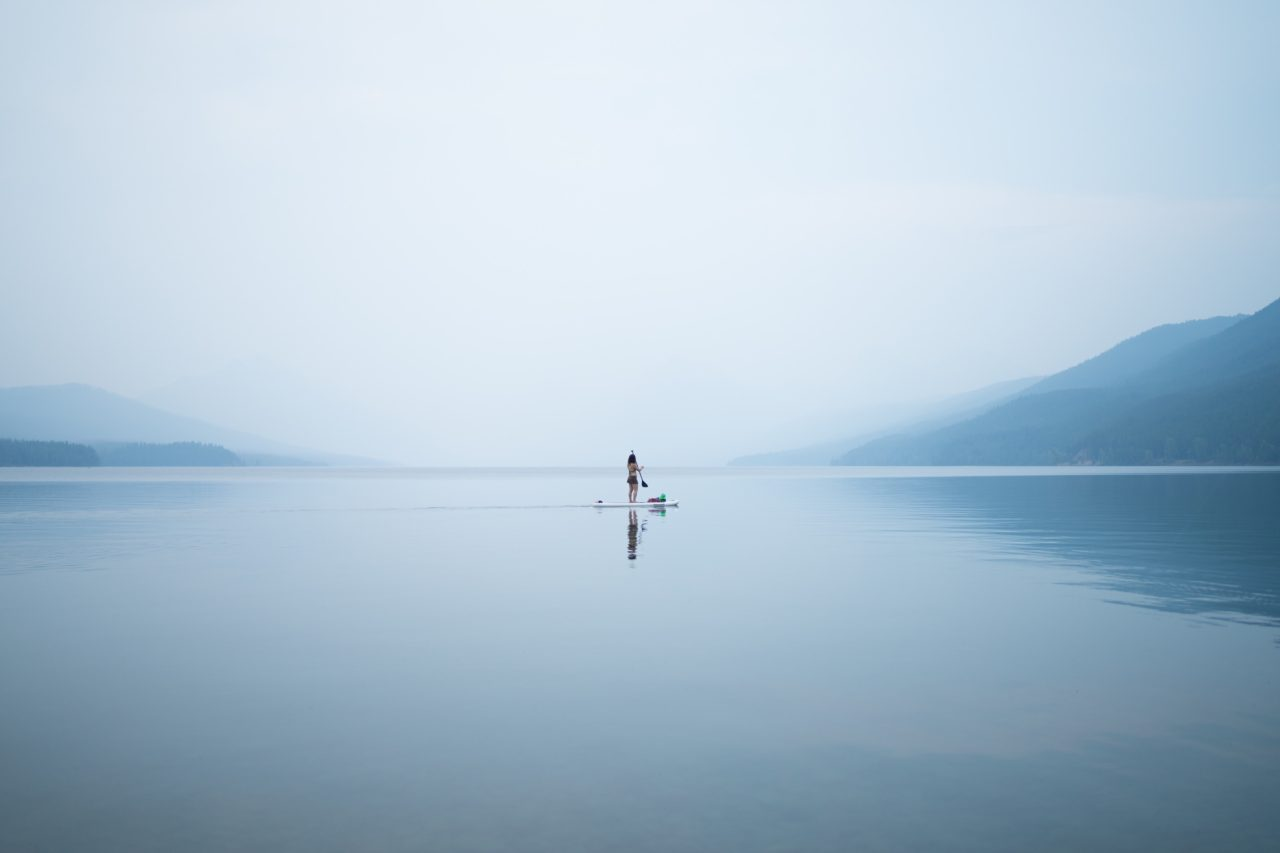 Lonely Woman on the Lake – Most Beautiful Picture