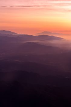 Mountain Sunset Color Gradient – Most Beautiful Picture