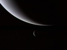 Neptune and its Moon Triton – Most Beautiful Picture