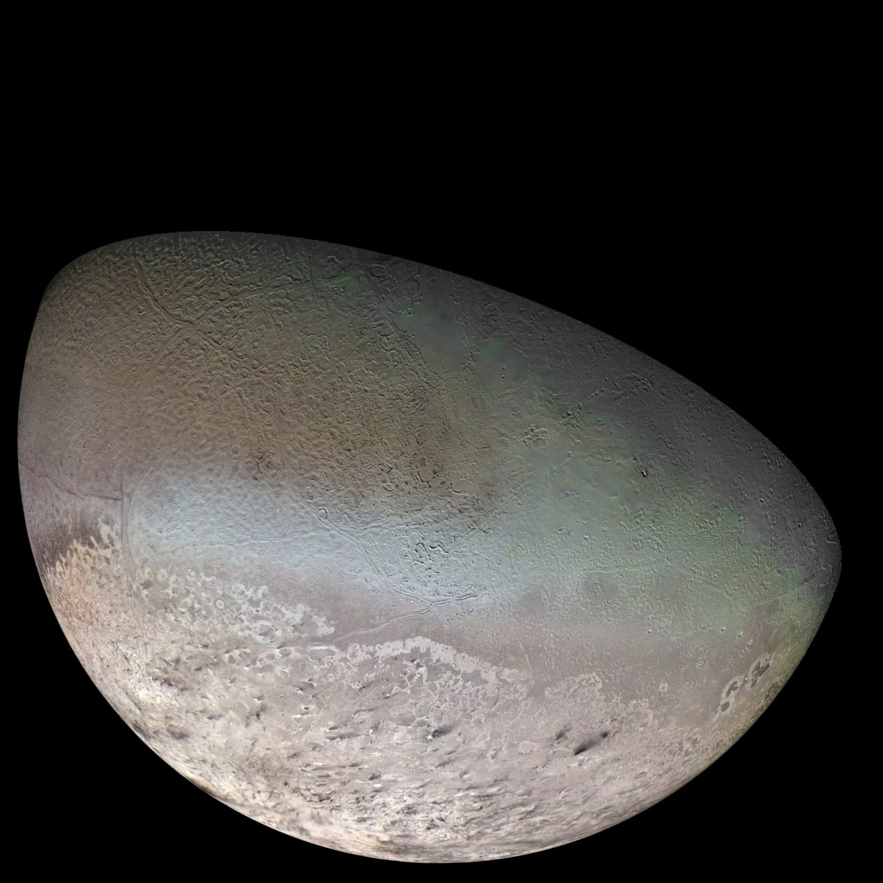 Triton Moon mosaic – Most Beautiful Picture