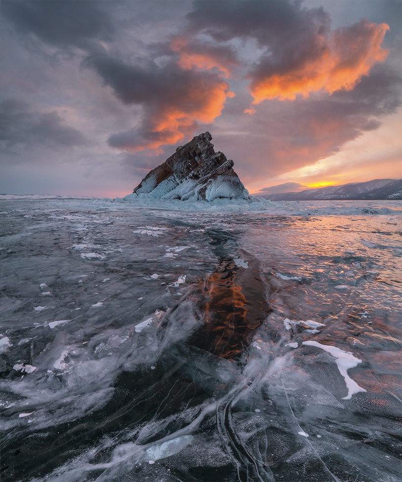 Lake Baikal in March, Russia