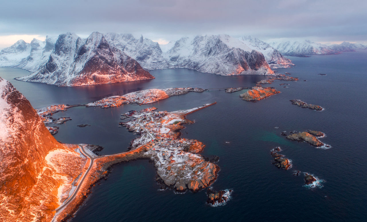 Lofoten Islands at dawn, Norway