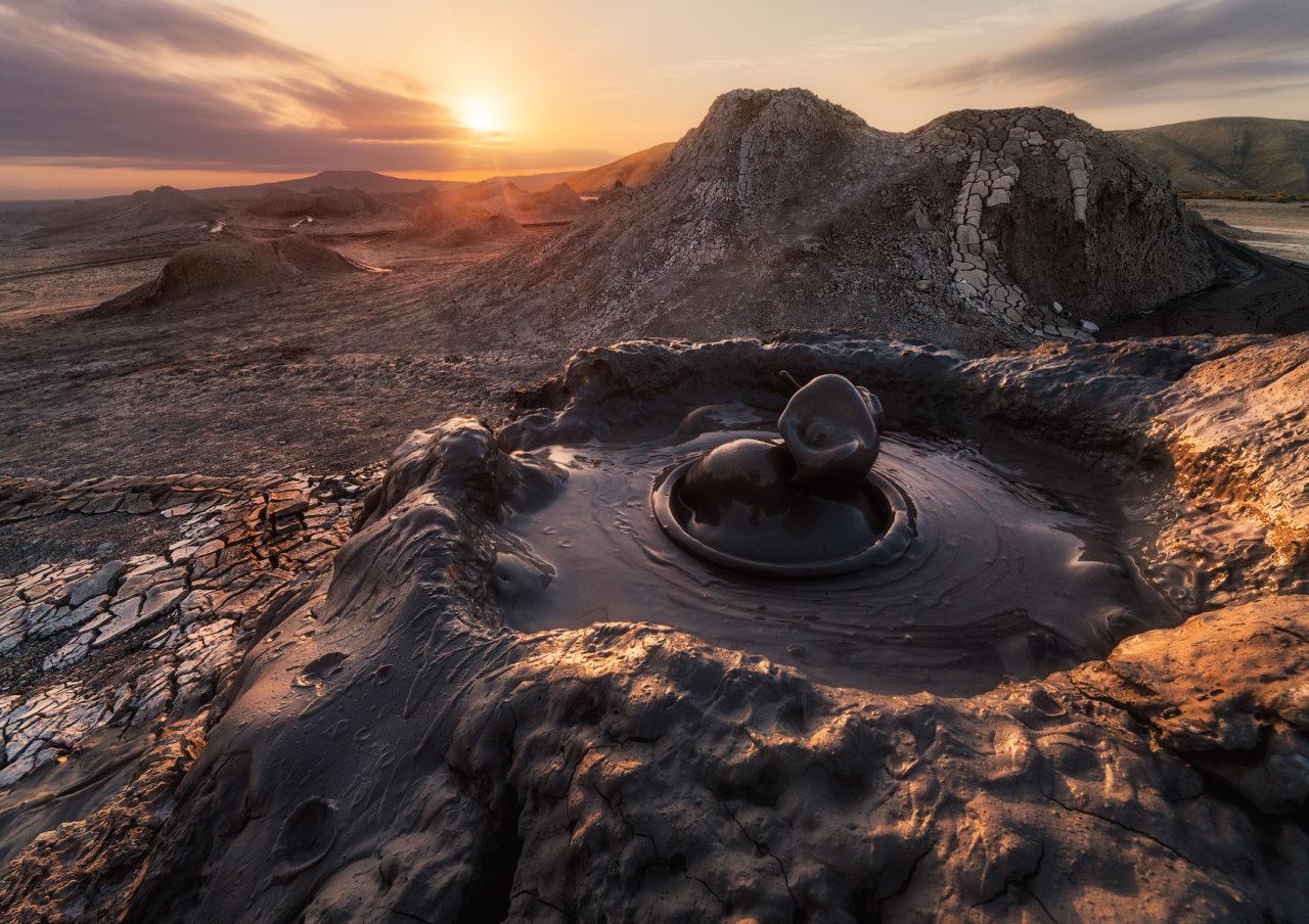 Mud volcanoes of Gobustan, Azerbaijan