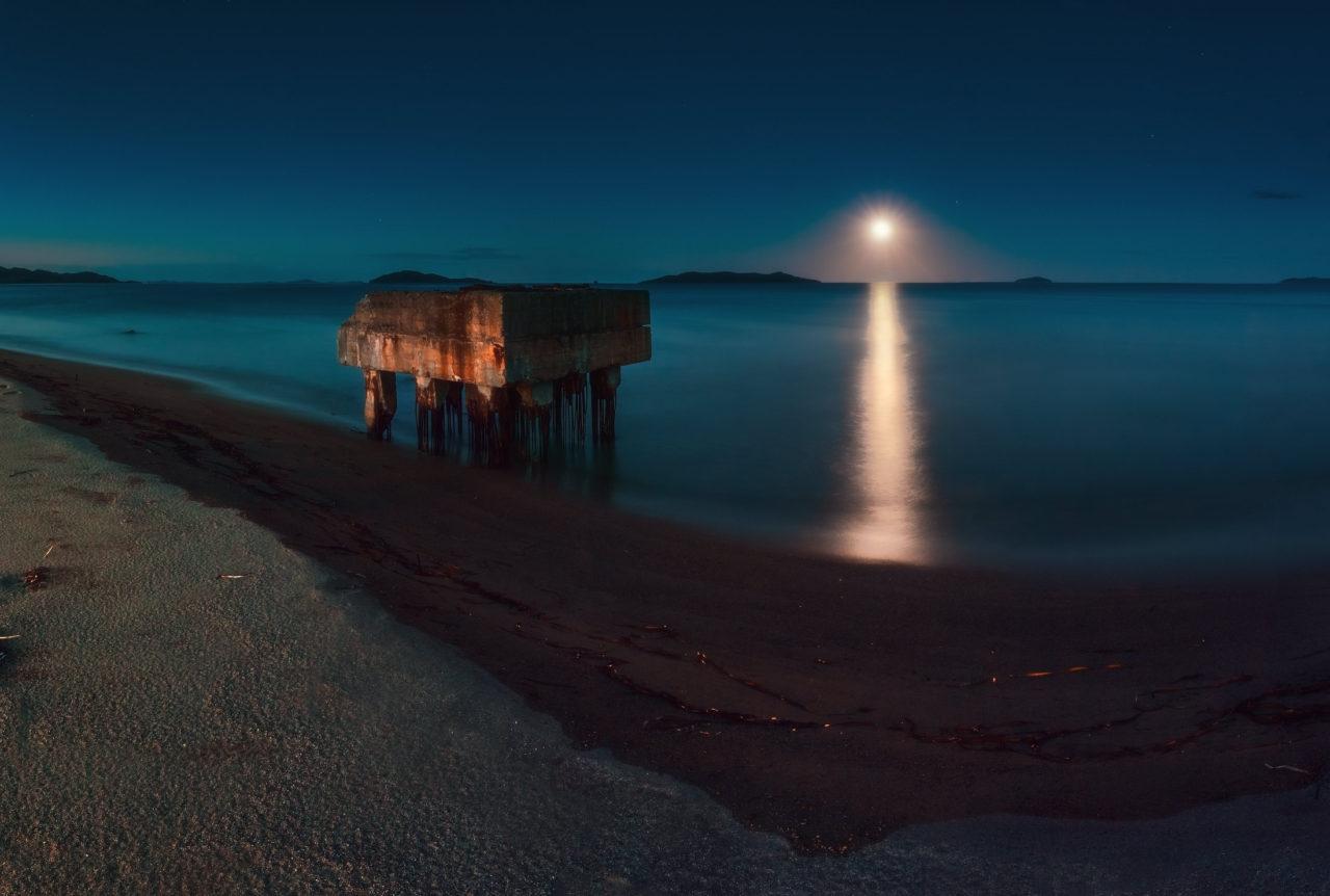 The coast of the Sea of Japan, Primorsky Krai, Russia