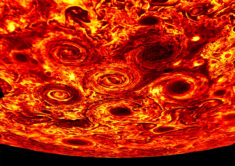 Giant Cyclones at the South Pole of Jupiter – Most Beautiful Picture