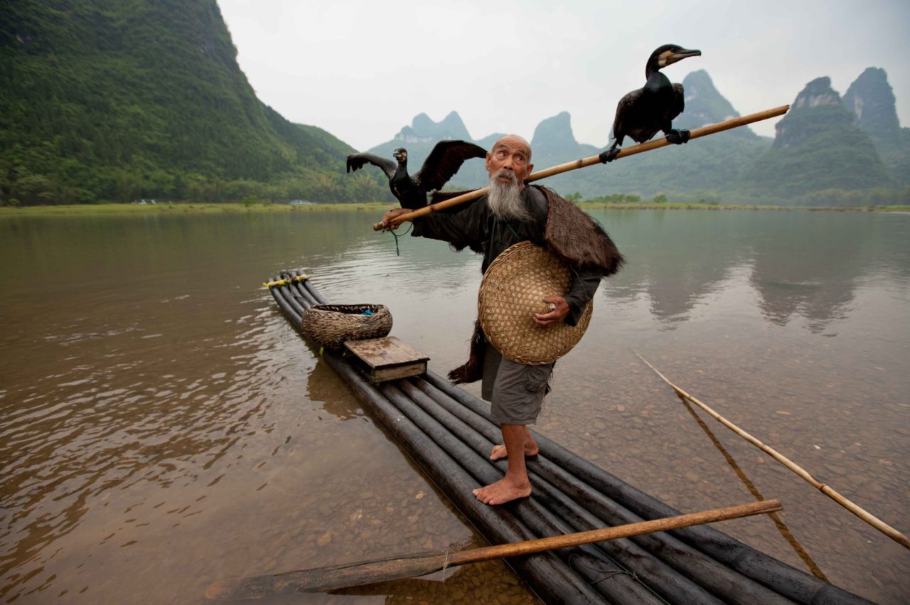 Old man on the Li River, China – Most Beautiful Picture