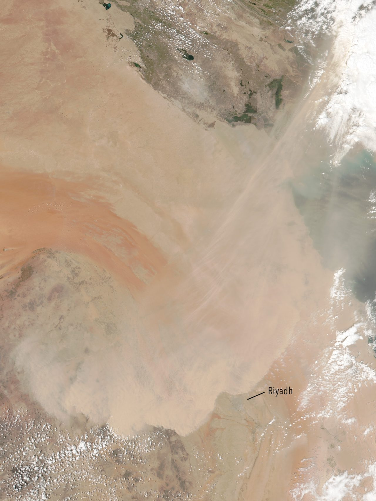 Saudi Arabia – Dust Storm (April 2018) • Map • PopulationData.net