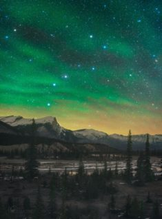 Airglow Borealis, Banff, Canada – Most Beautiful Picture