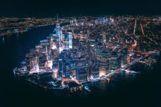 Manhattan by night, New York, USA