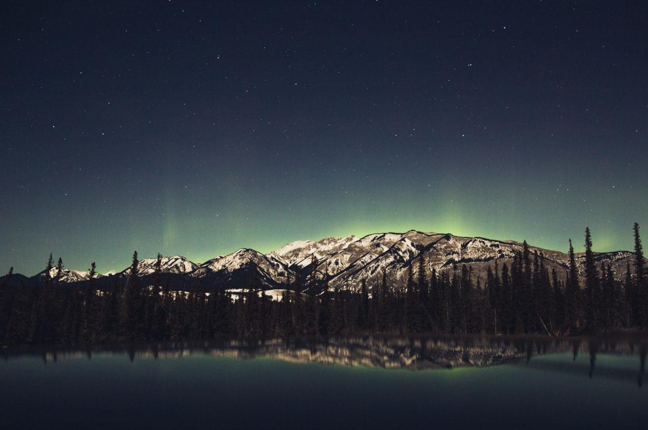 Northern lights above Jasper, Canada.