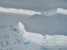 A giant iceberg breaks off Antarctica