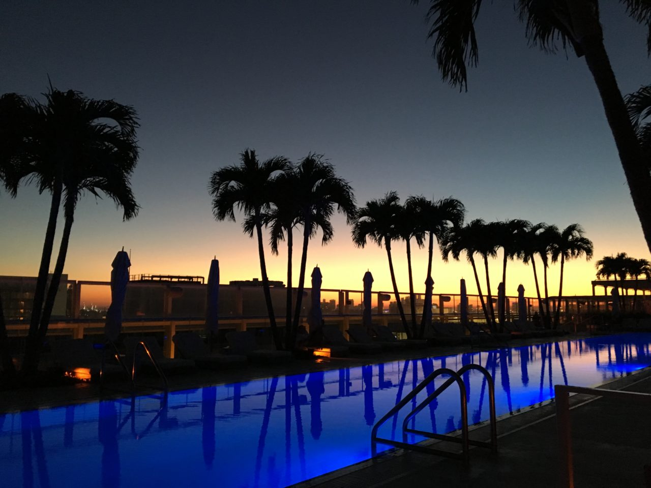 Rooftop Sunset, South Beach, Miami – Most Beautiful Picture