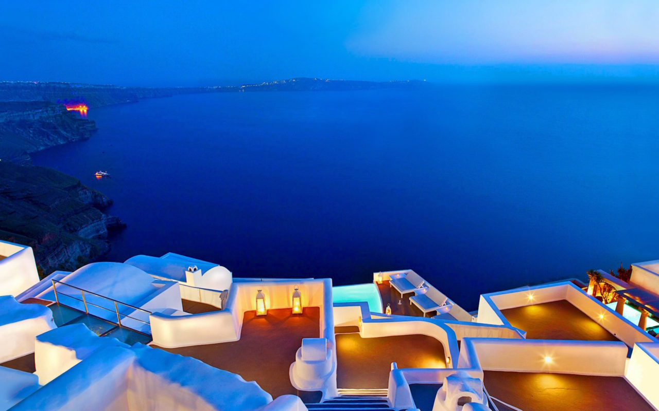 Santorini terraces, Greece – Most Beautiful Picture