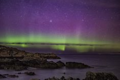 Northern lights in Ireland