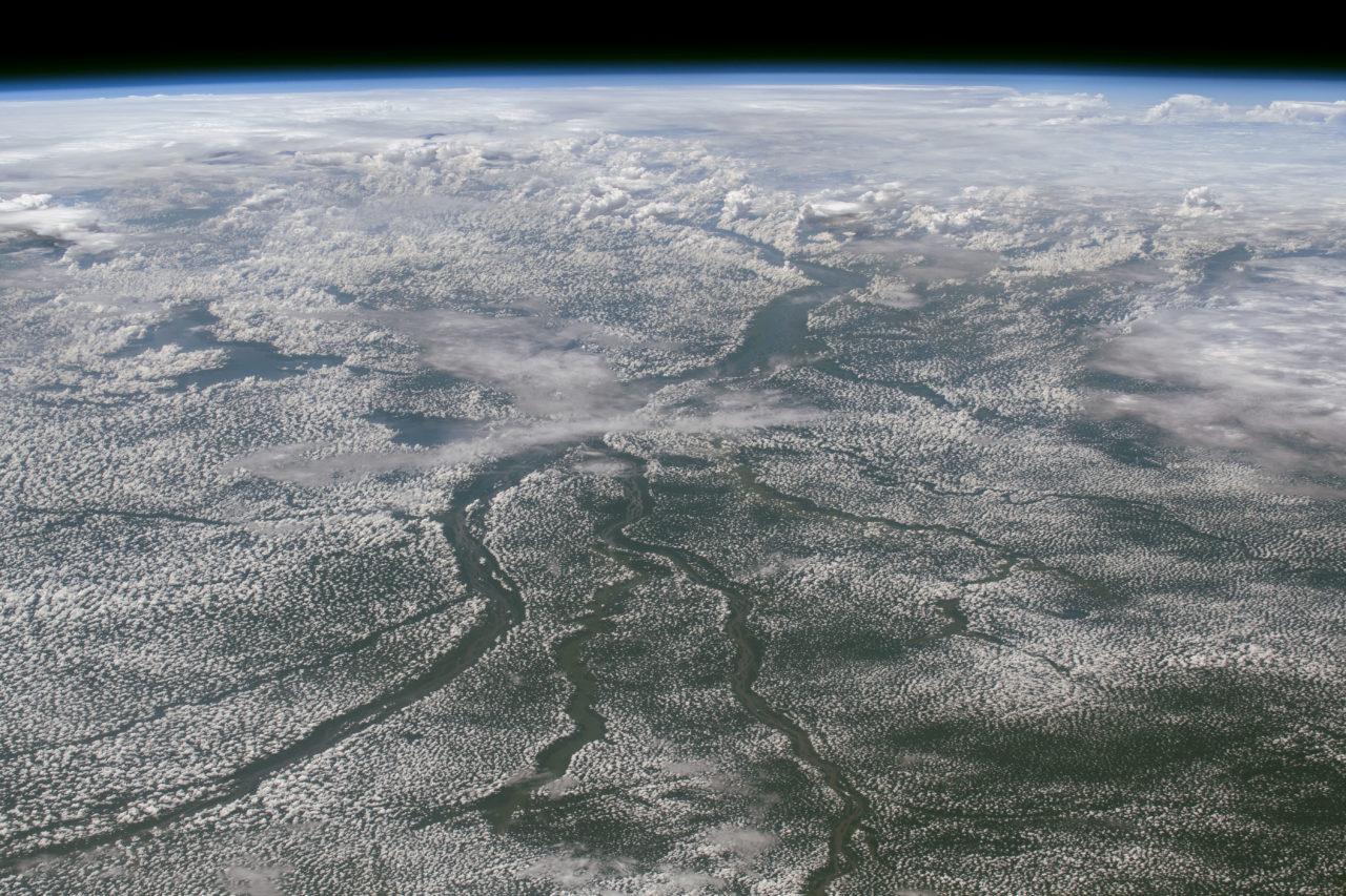 Cloudy Congo River Basin