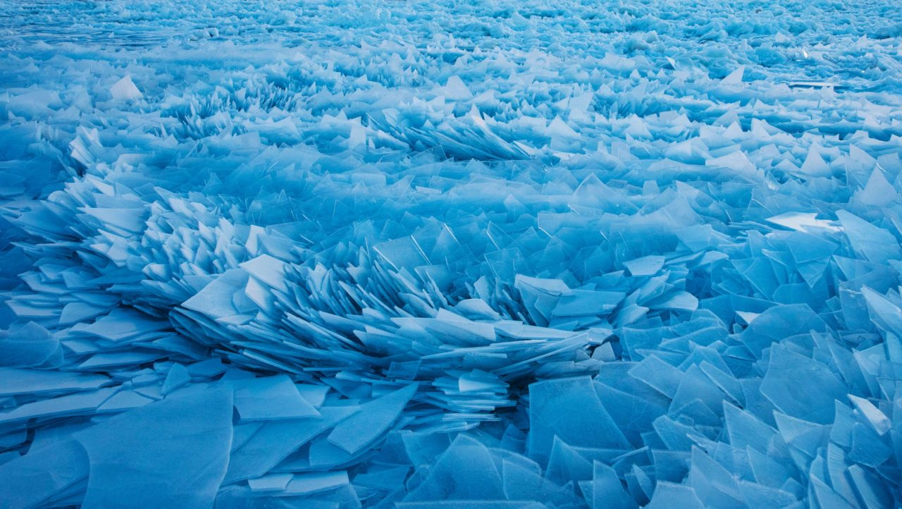 Shards of ice, Lake Michigan – Most Beautiful Picture