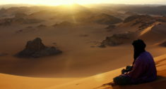 Tuareg on the dune of Timerzouga, Tassili – Most Beautiful Picture
