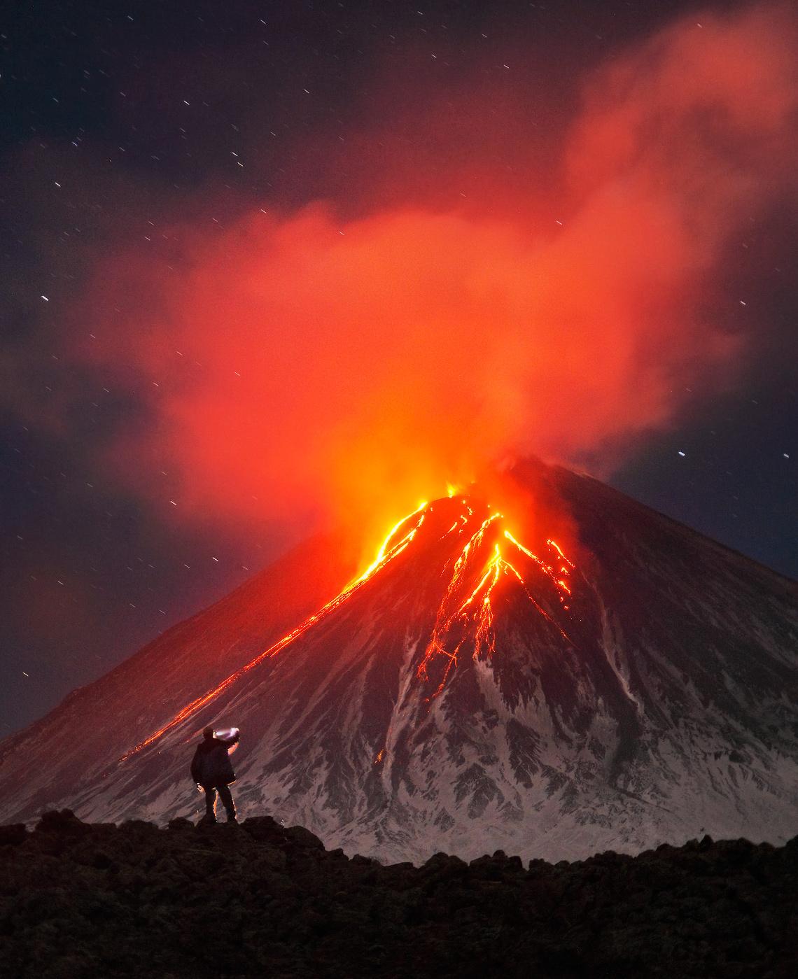 Klyuchevskaya Sopka eruption – Most Beautiful Picture