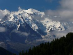 The Mont Blanc massif as seen from Emosson, Switzerland