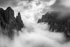 Lost in the Clouds, Piz Boè, Dolomites, Italy, 3,152 m