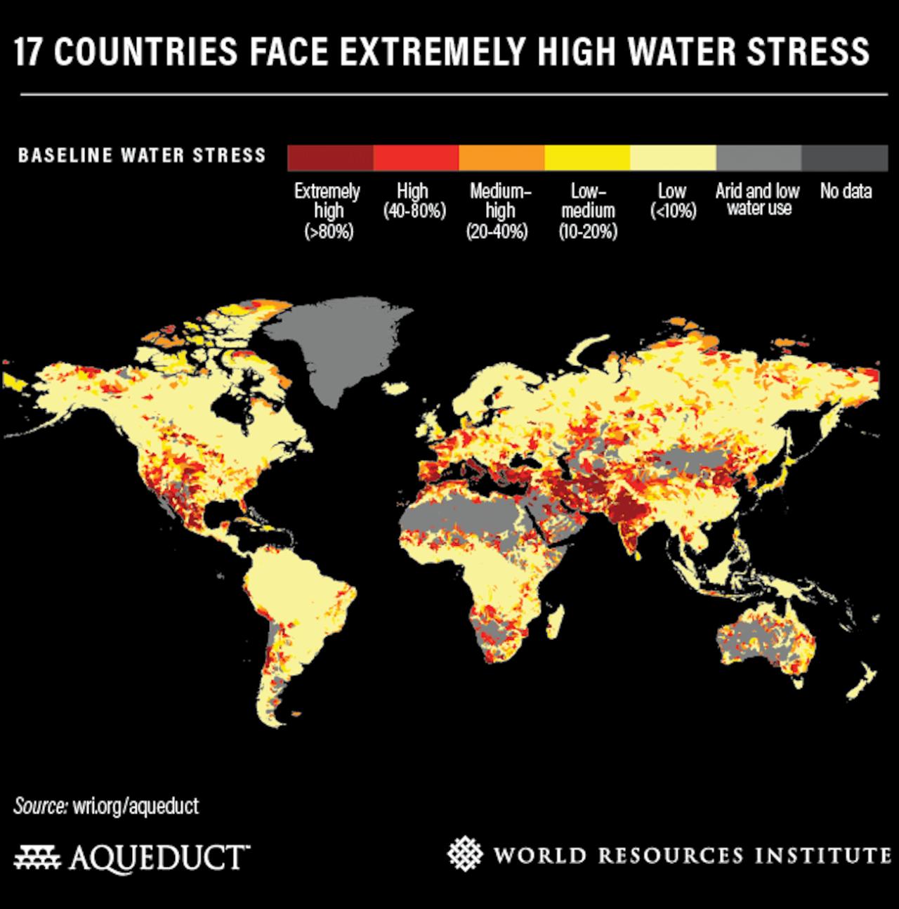 Un quart de l'humanité en situation de stress hydrique • PopulationData.net