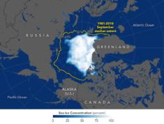 La banquise arctique est la deuxième plus faible en 2019 • PopulationData.net