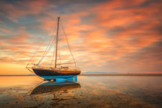 Boat in sunset – Most Beautiful Picture