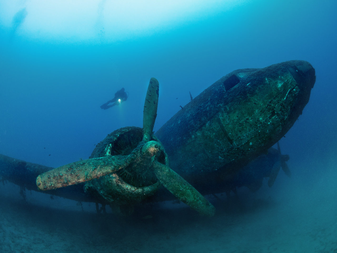 Propeller, Aircraft DC-3 Douglas, flooded in Turkey
