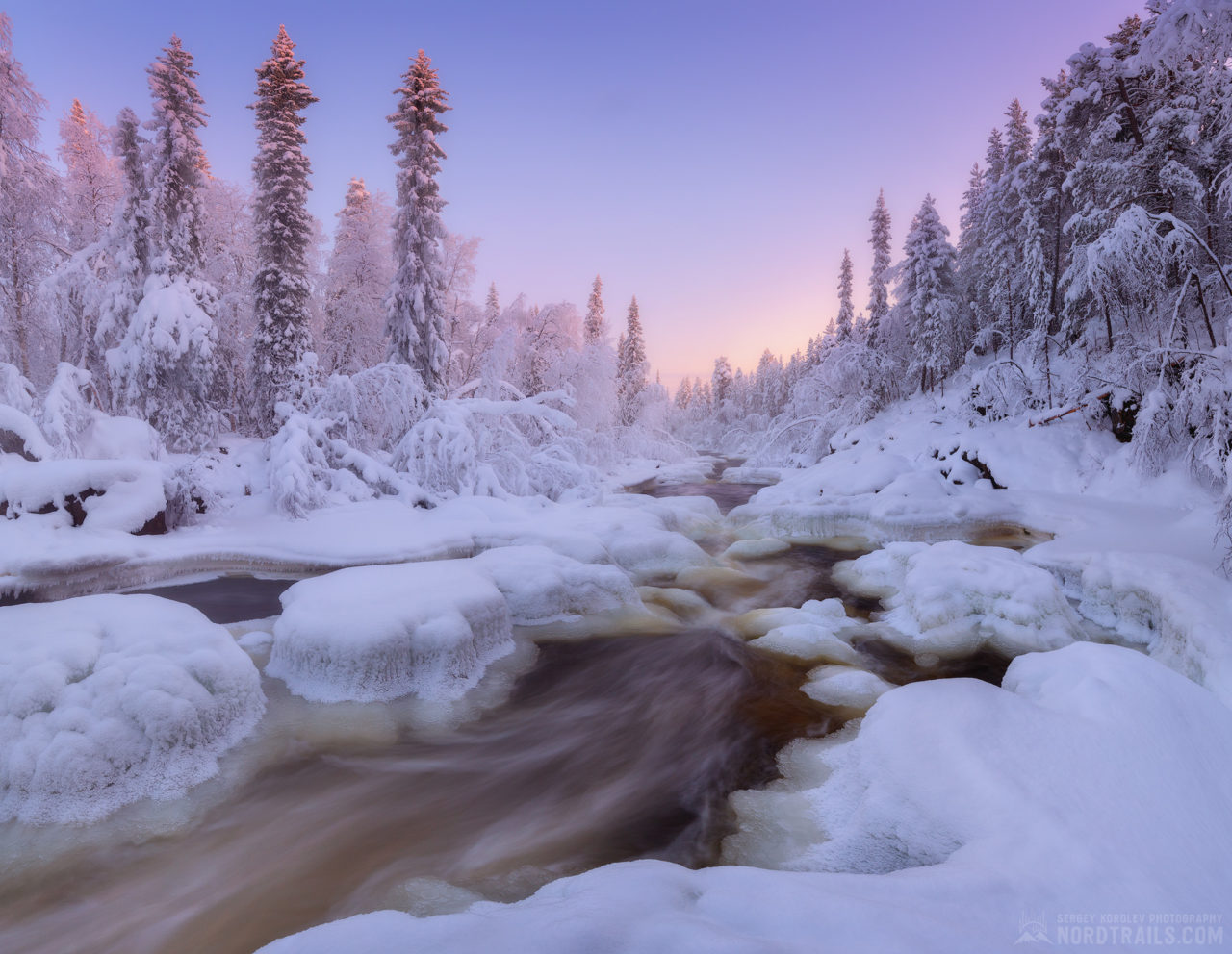 Winter in Kola Peninsula, Russia