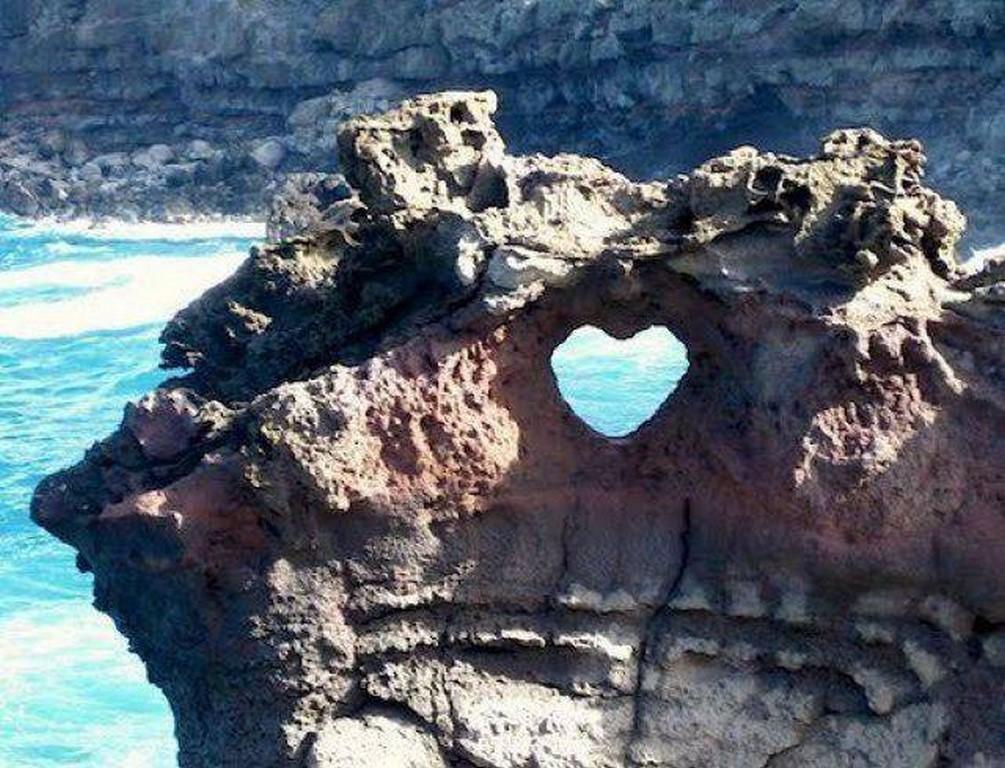 Heart Shaped Rock, Nakalele Blowhole, Maui, Hawaii