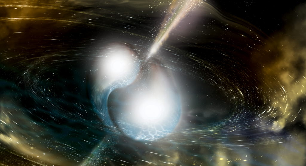 Shock between two neutron stars – Most Beautiful Picture