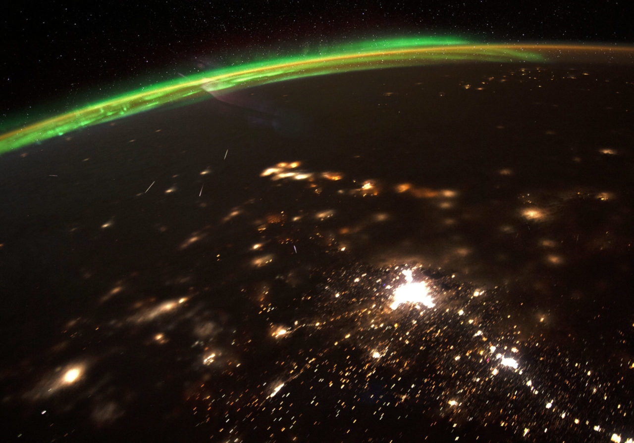 Meteor shower from space – Most Beautiful Picture