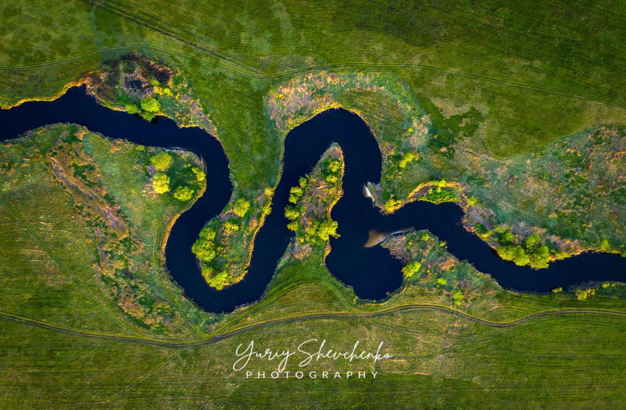 Natural snake river
