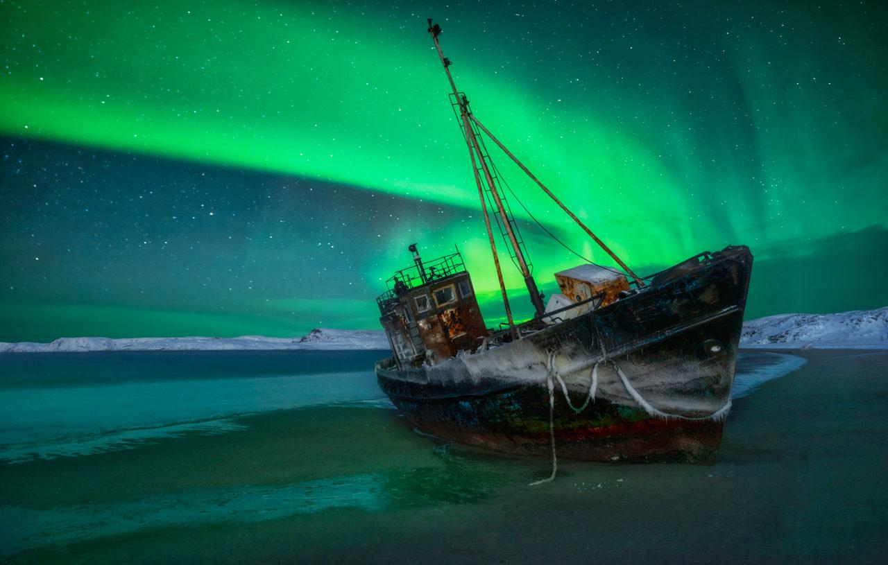 Aurora and wreck