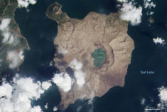 An Ash-Damaged Island in the Philippines | MapsRoom