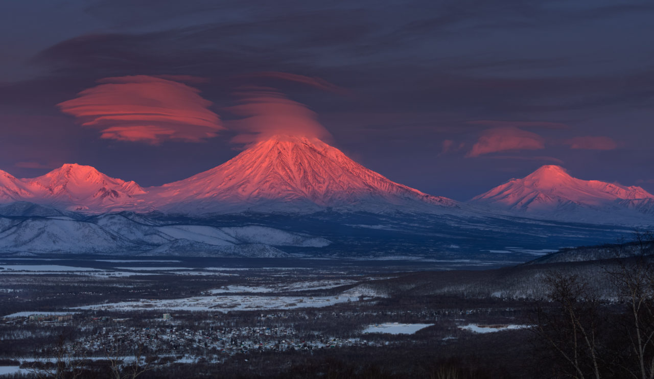 Koryaksky and Avachinsky volcanoes, Kamchatka, Russia – Most Beautiful Picture
