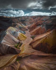 Iceland mountain landscape