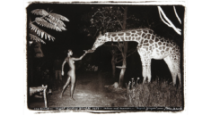 Maureen Gallagher and a Late Night Feeder, Hog Ranch, Peter Beard, 1987 | ArtyPin