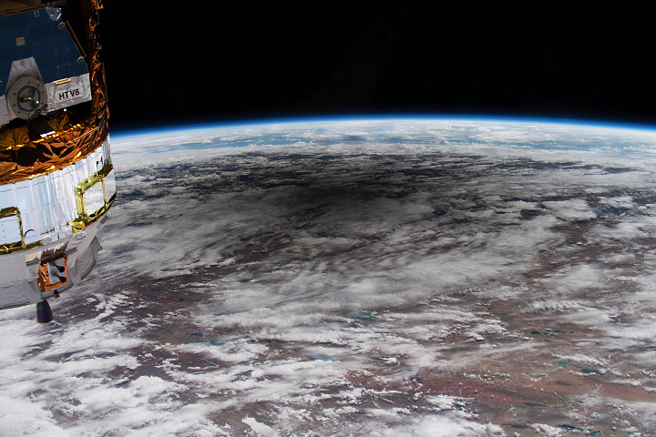 An Astronaut's View of an Annular Eclipse