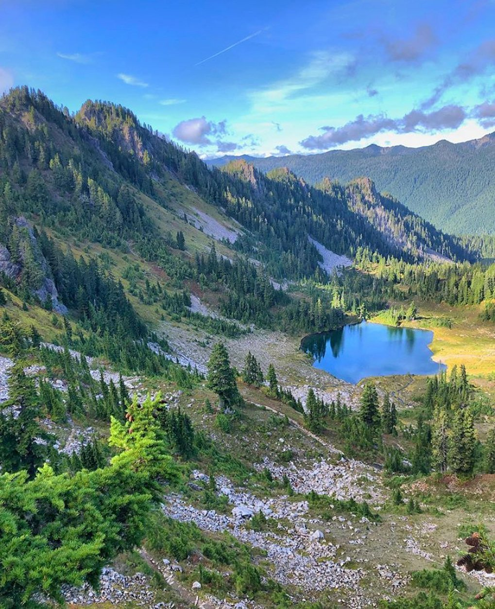 Seven Lakes Basin from the High Divide Loop, Olympic National Park, Washington