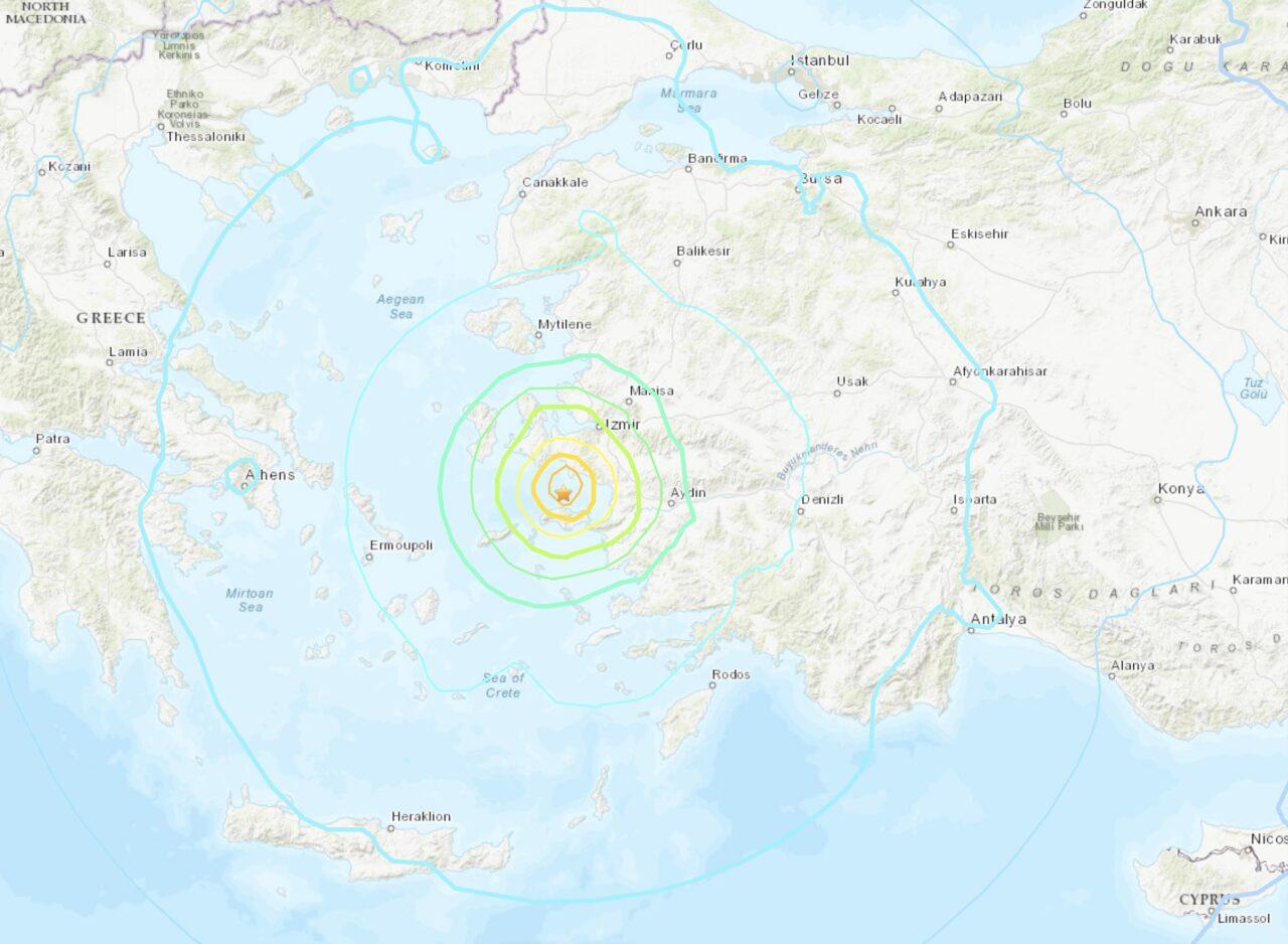 Séisme de magnitude 7.0 entre la Grèce et la Turquie • PopulationData.net