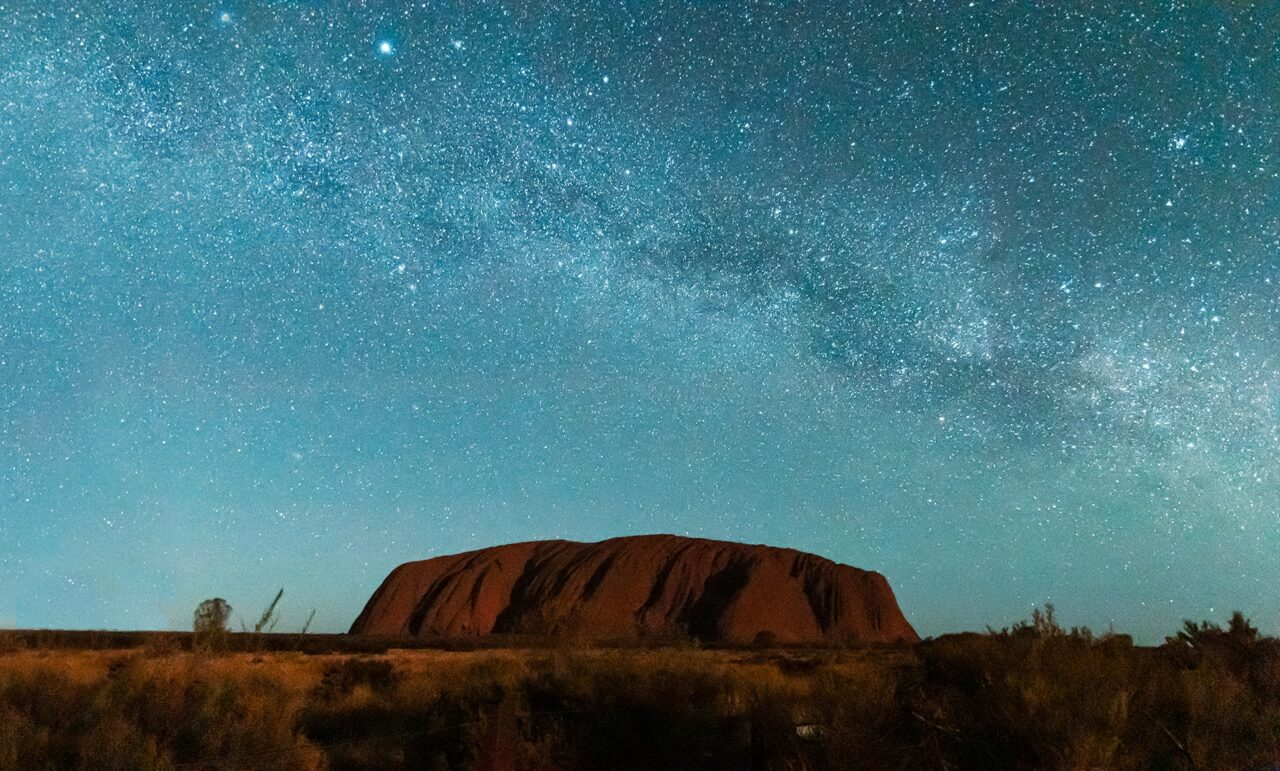 Ayers Rock under the Milky Way, Australia – Most Beautiful Picture