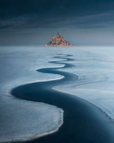 Mont Saint-Michel under the snow, France – Most Beautiful Picture